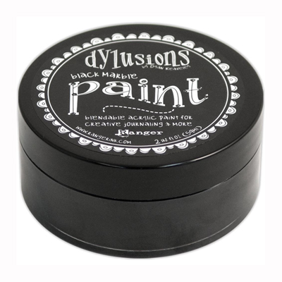Dylusions Paint -akryylimaali: Black Marble - musta, 59ml