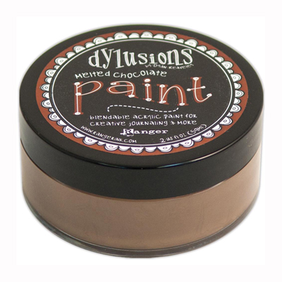 Dylusions Paint -akryylimaali: Melted Chocolate - ruskea, 59ml
