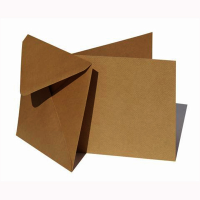 "6x6"" Card and enelope pack, kraft, 50pcs"