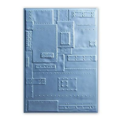 3d Tim Holtz embossing folder: Foundry