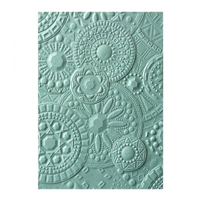 3d Courtney Chilson embossing folder: Mosaic gems