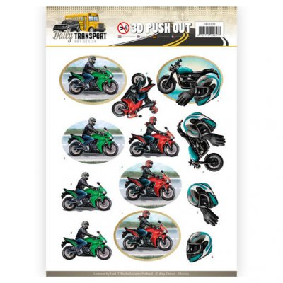 Amy Design 3d arkki, stanssattu: Daily Transport Motorcycles
