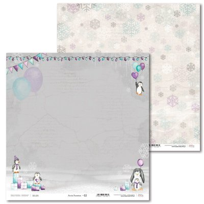 "LL paper sheet 12x12"": Arctic Sweeties 02"