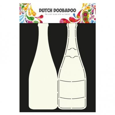 Dutch Doobadoo muotosabluuna: Champagne bottle