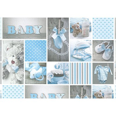 Cardstock A4: Baby, lt blue