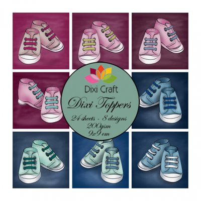Dixi Craft toppers: Baby shoes, 24pcs