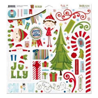 "Bo Bunny chipboard -tarra-arkki, 12x12"": Elf Magic"