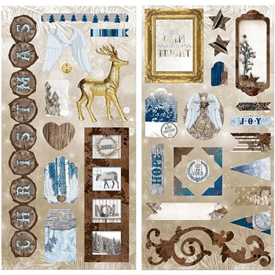 BB Sleigh Ride chipboard -tarra-arkit
