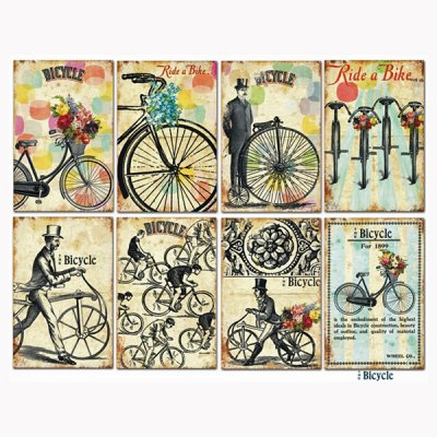 Decorer toppers: Bicycle, 24pcs
