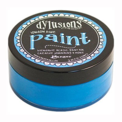 Dylusions Paint -akryylimaali: London Blue - sininen, 59ml
