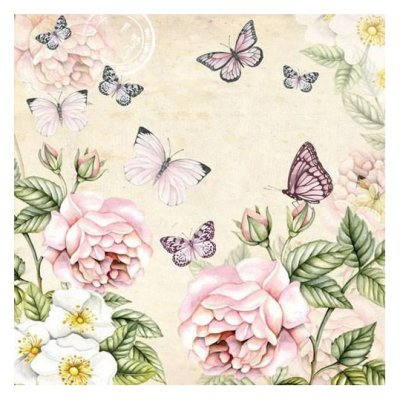 Servetti 33x33cm: Botanical cream, 5 kpl