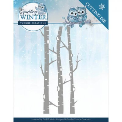 Yvonne Creations -stanssi: Sparkling Winter - Birch Trees