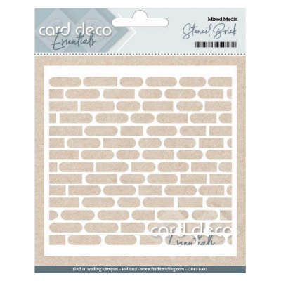 Card Deco Stencil: Brick Wall