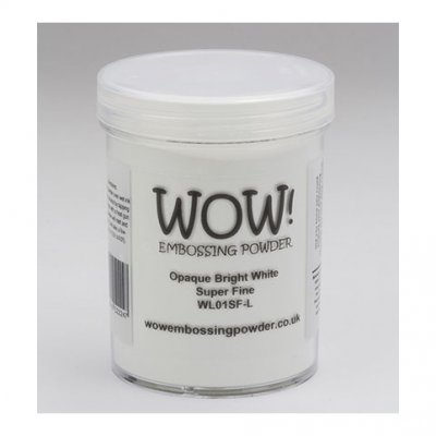 Wow! -kohojauhe 160ml: Opaque  Bright White (super fine) - valkoinen