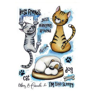 CE stamp set: Cats - Odey & Friends