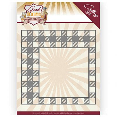Yvonne Creations -stanssi: Checkered Frame - kehys