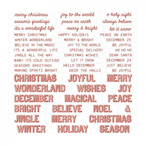 Tim Holtz: Quote chips - Christmas, 52 pcs