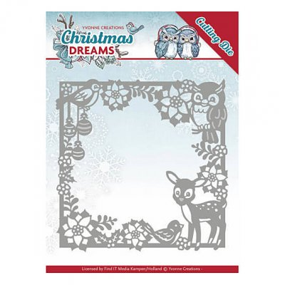 Yvonne Creations -stanssi: Christmas Animal Frame -kehys