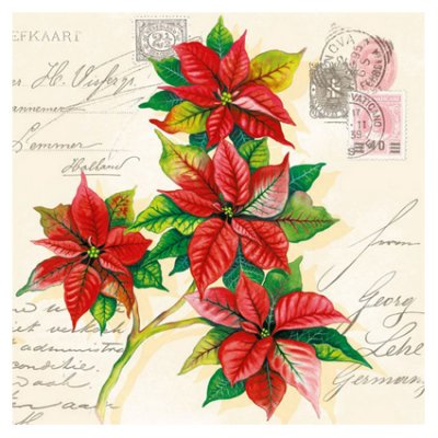 Servetti 33x33cm: Christmas Greetings, 5 kpl