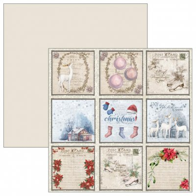 "Reprint -kuviopaperi 12x12"": Christmas Time Tags 1"