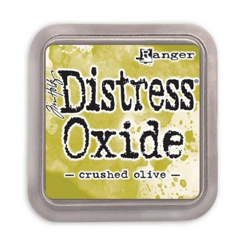 Distress Oxide -mustetyyny: Crushed Olive