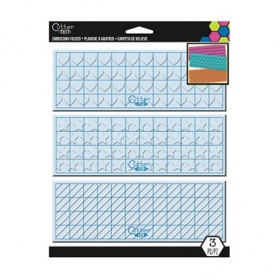 EK embossing folder set, 3 pcs