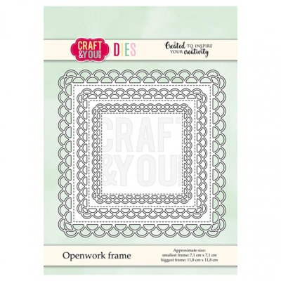 Craft & You -stanssisetti: Openwork frame - neliöt