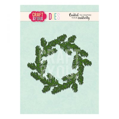 Craft & You -stanssi: Conifer Wreath - havukranssi