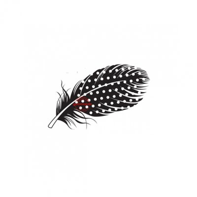 GA -leimasin: Dotted feather - sulka