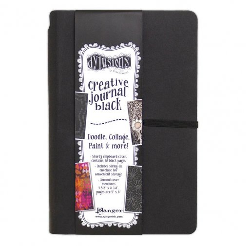 "Dylusions Creative Journal, 5x8"" - black"