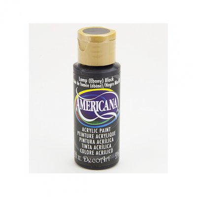Americana acrylic paint: Lamp ebony black