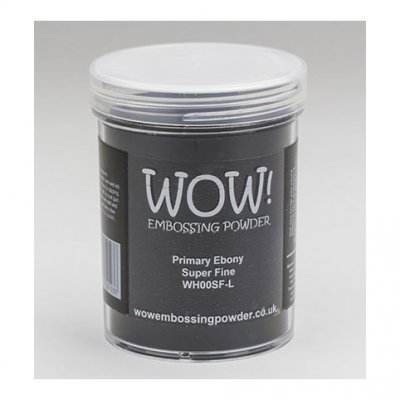 Wow! -kohojauhe 160ml: Primary Ebony (super fine) - musta
