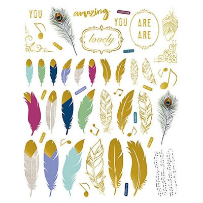 DA die-cuts: Feathers
