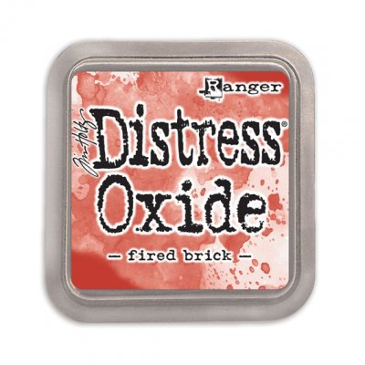 Distress Oxide -mustetyyny: Fired Brick