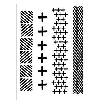 CE stamp set: Crosses and Fishbone