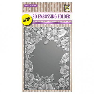 3d embossing folder (NC): Flower Frame