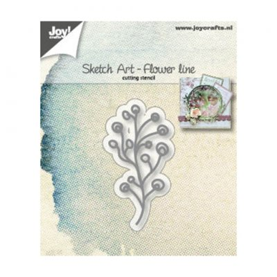 Joy Crafts -stanssi: Sketch Art Flower line