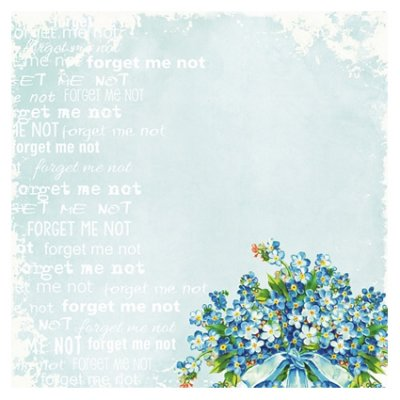 "8x8""kuviopaperi: Decorer - Forget-me-not"