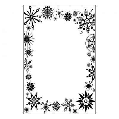 CT embossing folder: Snowflakes