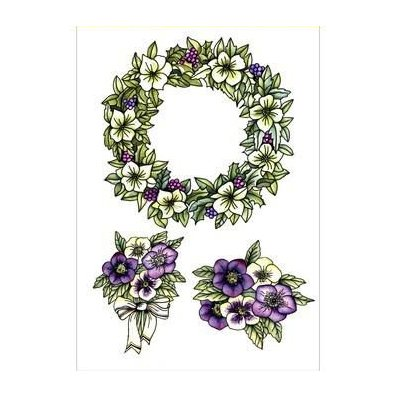 CE stamp set: Garland with flowers
