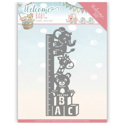Yvonne Creations -stanssi: Baby growth chart - mitta