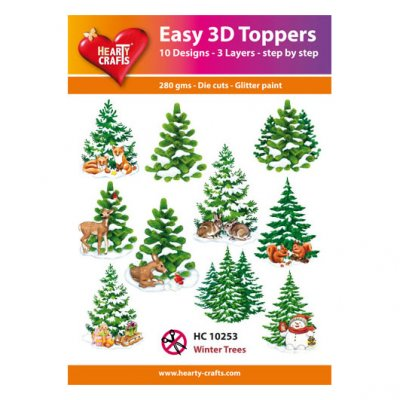 Hearty Crafts 3d kuvat: Winter Trees, 10 kpl