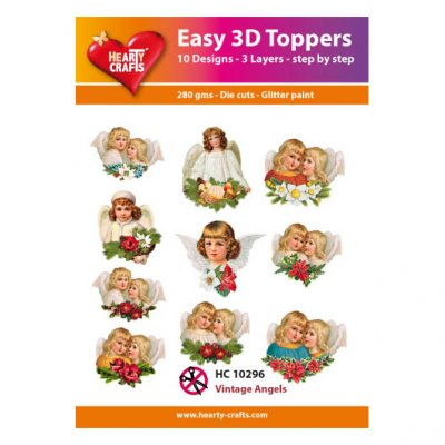 Hearty Crafts 3d kuvat: Vintage Angels - enkelit, 10 kpl