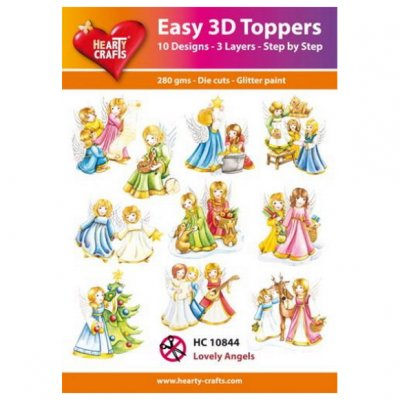 Hearty Crafts 3d kuvat: Lovely Angels, 10 kpl
