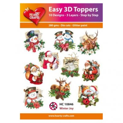 Hearty Crafts 3d kuvat: Winter Joy, 10 kpl