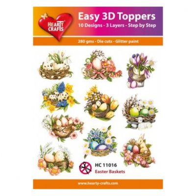 Hearty Crafts 3d kuvat: Easter Baskets, 10 kpl