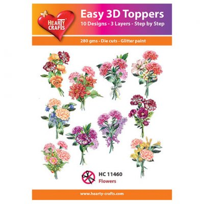 Hearty Crafts 3d kuvat: Flowers, 10 kpl