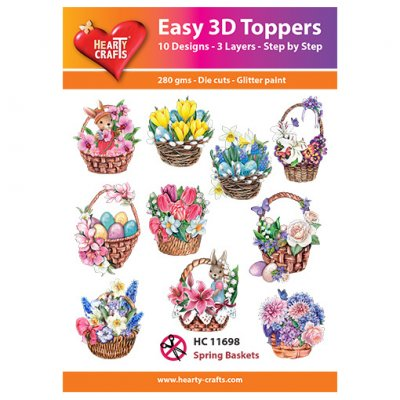 Hearty Crafts 3d kuvat: Spring Baskets, 10 kpl