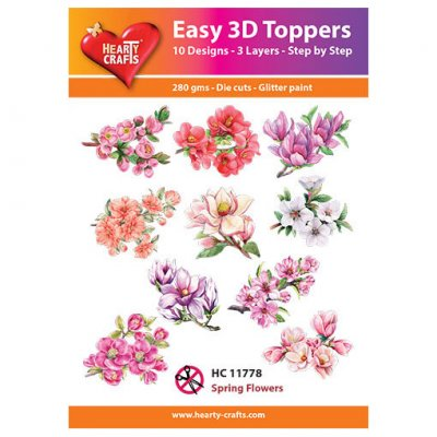 Hearty Crafts 3d kuvat: Spring Flowers, 10 kpl