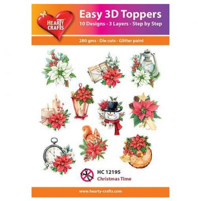 Hearty Crafts 3d kuvat: Christmas Time, 10 kpl